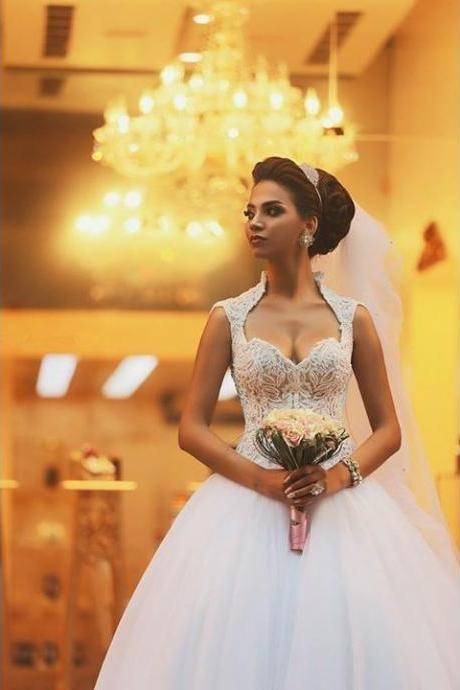 Sweetheart A-line Bridal Dresses Wedding Gown