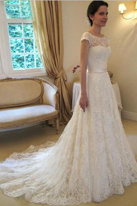 Train Lace Bridal Dresses