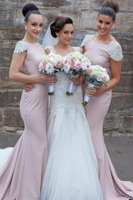 Sexy Backless Mermaid Bridesmaid Dress