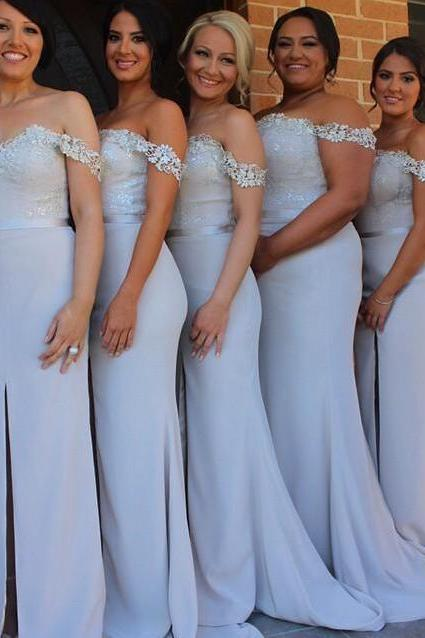 Off-Shoulder Evening Gown Bridesmaid Dress